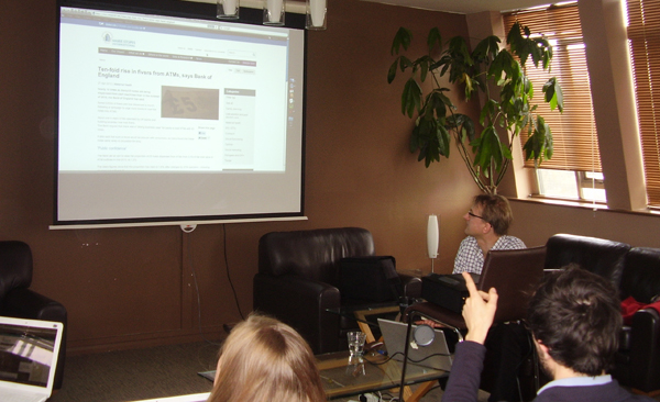 photo of keyword targeting workshop for major charity