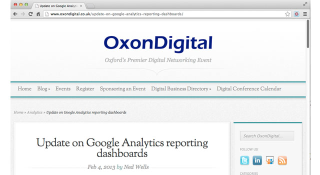 My first guest post on OxonDigital - Zanzi Digital