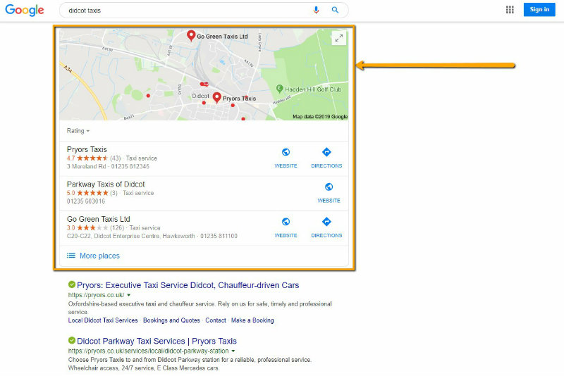 Google my Business screen shot 3